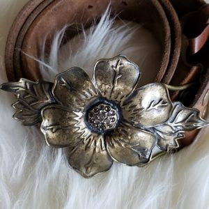 Abercombie Distressed Leather & Brass Boho Belt